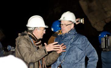 Kontrollöffnung des Stollens im Jakobsberg
